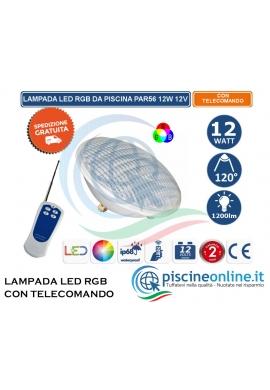 Lampada led per piscina Multicolor RGB con telecomando