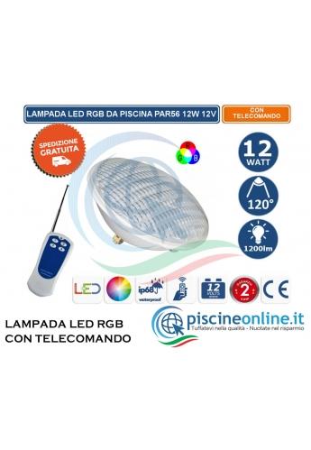 Lampa lec per piscina Multicolor RGB con telecomando