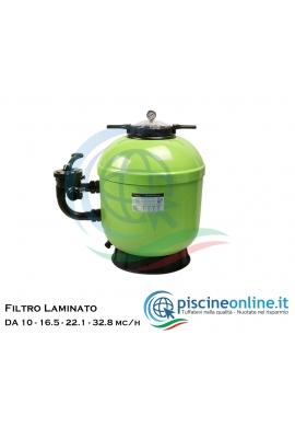 Filtro laminato da 10 - 16.5 - 22.1 - 32.8 mc/h - in poliestere rinforzata con fibra di vetro
