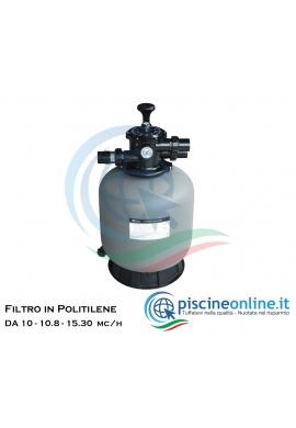 Filtro in polietilene grigio trattato valvola selettrice top da 6-10-15 metri cubi orari