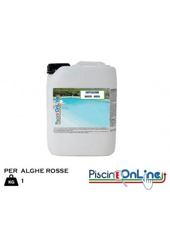 ANTIALGA ALGHICIDA PER ALGHE ROSSE E ROSA - CONFEZIONE DA 1 LT - Prodotti Pulizia Piscina Online