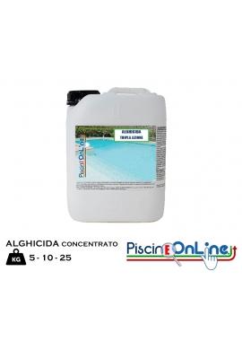 ALGHICIDA ANTIALGHE SUPERCONCENTRATO A TRIPLA AZIONE - CONFEZIONE DA 5 - 10 - 25 LITRI