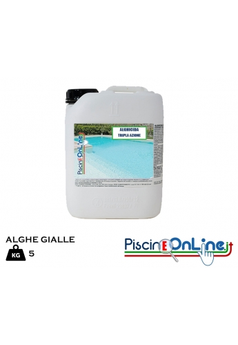 Alghicida antialghe per alghe Gialle con Azione Funghicida - Confezione da 5 Litri