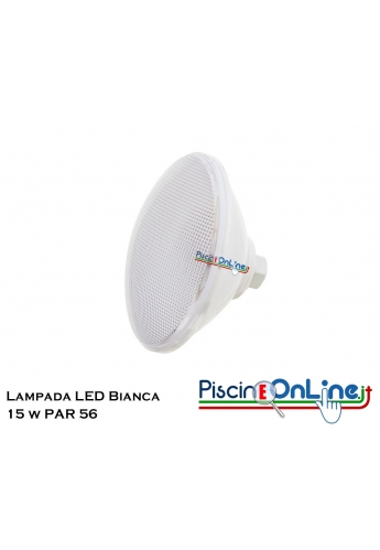 LAMPADA PAR 56 ECOPROOF LUCE BIANCA 30 LED 15W ON/OF
