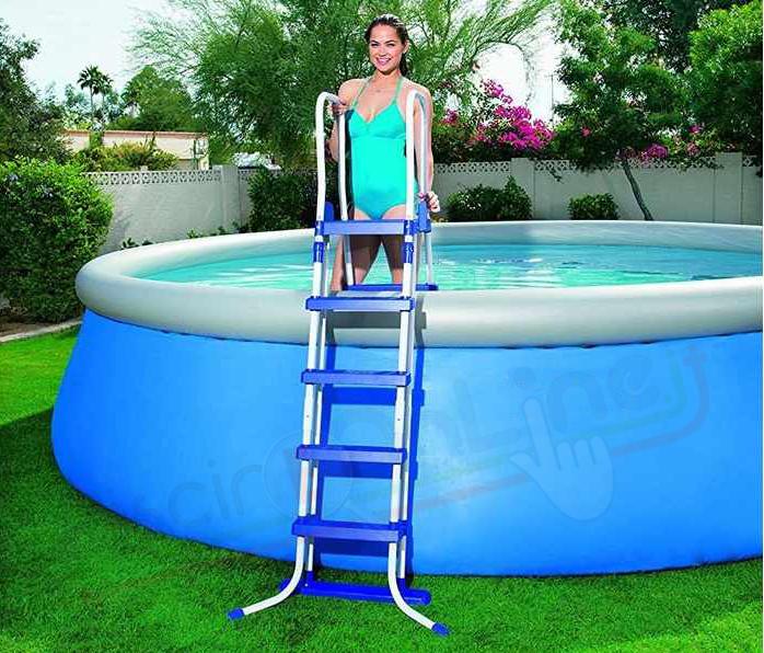 scaletta per piscina fuoriterra h 132 cm