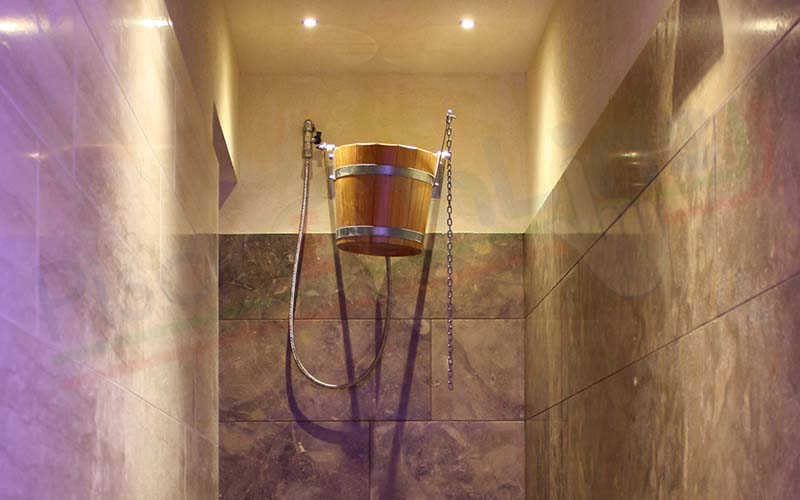 secchio doccia per sauna