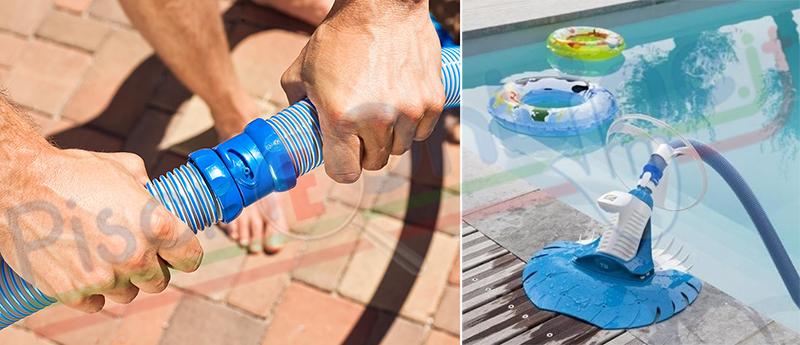 Pulitore semi automatico per piscine ad incasso fino a 12 metri - Aspirapolvere per piscina ...