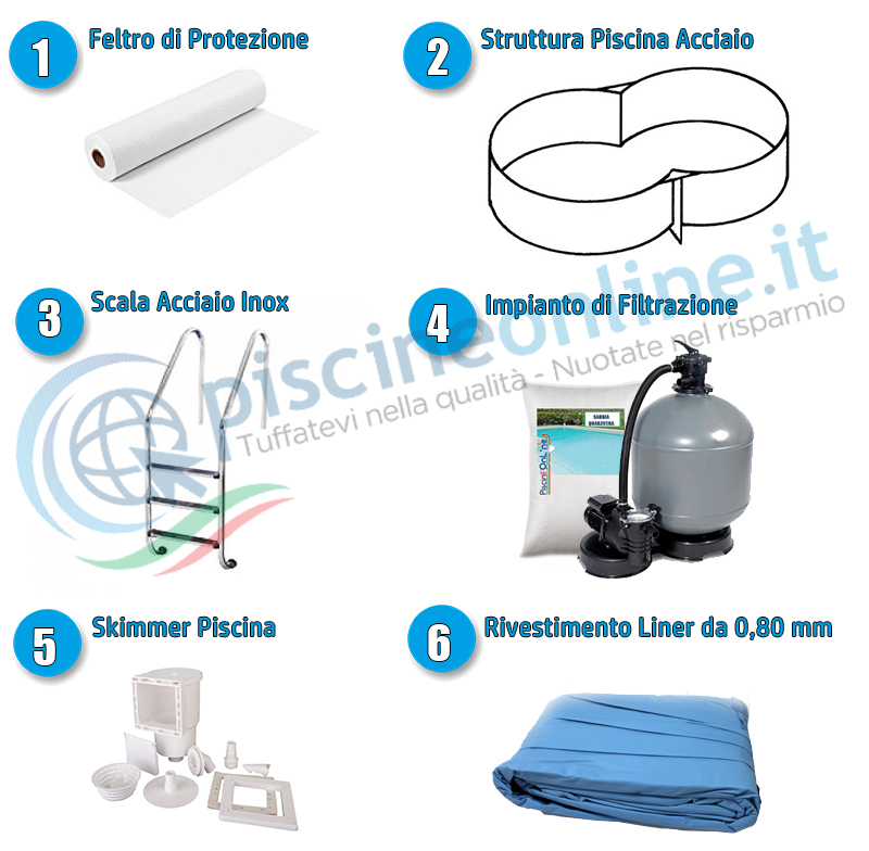 kit piscina completa