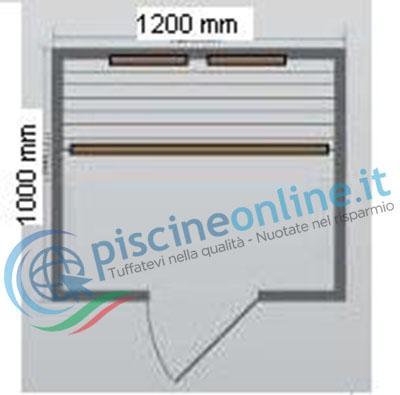 dimensioni sauna ad infrarossi