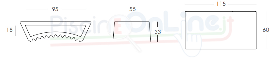 Dimensioni tavolino Tac