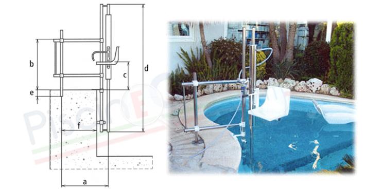 Misure sollevatore idraulico fisso